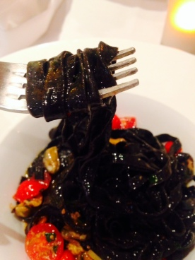 If you love squid ink pasta, you'll love Il Punto!