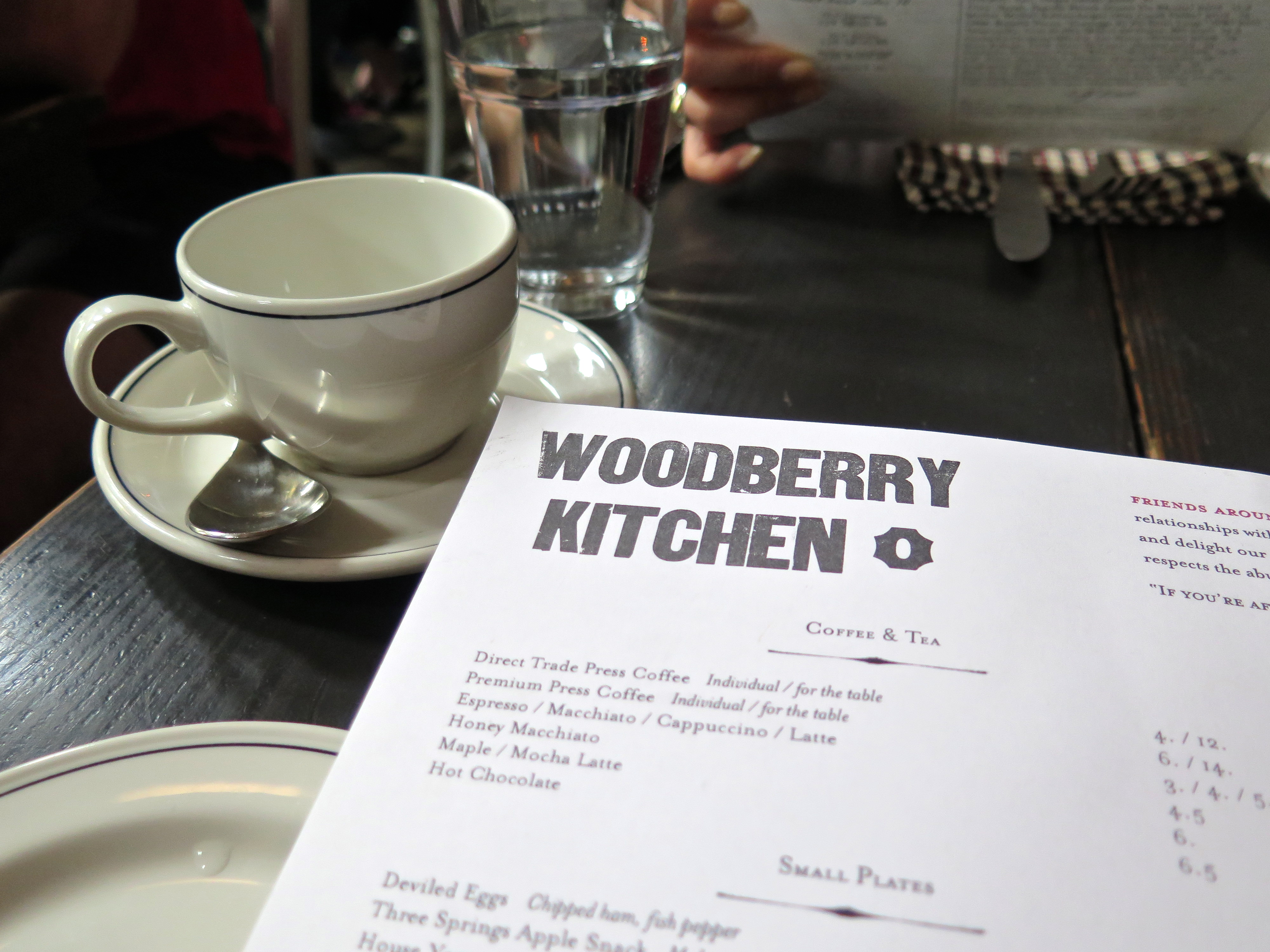 Woodberry Kitchen Brunch Menu